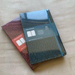 Bundle of two Moleskine ruled notebooks